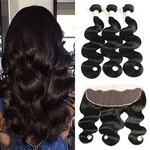 Morichy 8a Peruvian Body Wave 3 Bundles with Frontal Ear to Ear Lace Fro... - $75.03