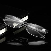 Stainless Steel Resin Lens Reading Glasses Half Frame - $14.32