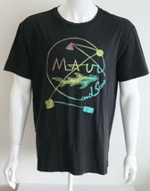 American Eagle Outfitters MAUI Mens Graphic Tee Black Sizes L XL 100% Co... - $23.11