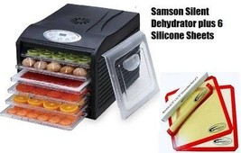 "Samson ""Silent"" 6 Tray Dehydrator with Digital Controls PLUS 6 SILICONE ... - £95.88 GBP"
