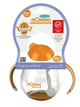 Lansinoh Momma Straw Cup with Dual Handles, Orange - £10.55 GBP
