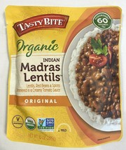 6 Sealed Packages Of Tasty Bite Organic Indian Madras Lentils 10 Oz Each image 2
