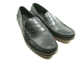 Sebago Mens Black Leather Moc Toe Penny Loafers Size US 9 D Handsewn 770101 - $38.61