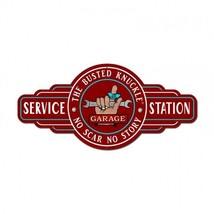 Busted Knuckle Service Station Plasma Cut Metal Sign - $49.95