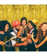 4pk GOLD Foil Tinsel Curtain Metallic New Years Eve Party Decorations Ba... - €11,19 EUR