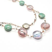 Necklace Antica Murrina Venezia Lampwork Murano Glass Charm Bead Purple Green image 5