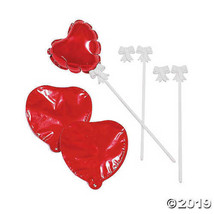 Self-Inflating Red Heart Balloons, Set of 4 - $7.59