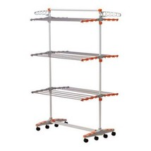 Drying Rack System Storage Hanging Clothes Foldable Dryer Shelves Rods B... - $70.82