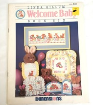 Welcome Baby Book Six Counted Cross Stitch Chart Dimensions #130 - $4.45
