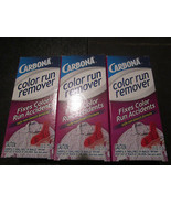 Color Run Remover Carbona 3-2.6 oz Boxes Removes Unwanted Dye Stains - $10.28