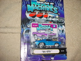 Muscle Machines '66 Pontiac Gto 03-26 Blue Free Usa Shipping - $11.29