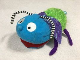 Manhattan Toy Plush Mosquito Bug Hand Puppet Green Purple Shimmer Wings ... - $48.37