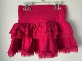 GapKids Fucshia Dark Pink Layered Ruffled Skirt girls XS 4-5 - $9.89
