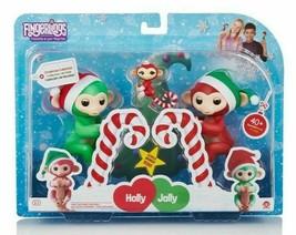 Wow We FINGERLINGS Holly Jolly and Bonus Mini Merry Monkeys - Holiday Ex... - $21.73