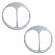 United Pacific 10466 7-1/2 inch Chrome Cat's Eye Headlight Covers, pair - $15.49
