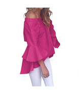Slash Neck Women Flare Sleeve Blouse Female Shirts Blusa Girl Kawaii Off... - $40.00