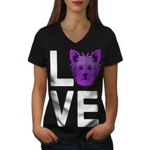 Yorkshire Doggy Love Shirt Terrier Women V-Neck T-shirt - $12.99+