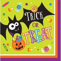 Gone Batty 16 Ct Luncheon Napkins Halloween Party Bat Candy - $3.22