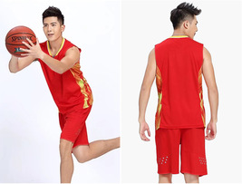 Plus Size Men Training Sports Clothing Sets Breathable Basketball Jerseys  - $25.99