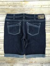 Silver J EAN S Shorts Buckle Mid Rise Aiko Denim Jean Stretch Mid Cuffed Short 32 - $39.97