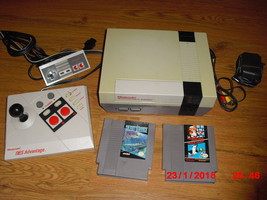 Nintendo NES System W 3 GAMES MARIO/DUCK HUNT AND SILENT SERVICE - $89.09