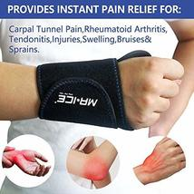 Wrist Gel Ice Pack Neoprene Wrap for Hot Cold Reusable Therapy, Great for Carpal image 3