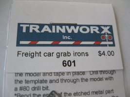 Trainworx Stock # 601 Freight Car Grabirons N-Scale image 2