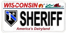 Wisconsin NOVELTY License Plate Law Enforcement - One Ass To Risk  Sheriff - $12.82