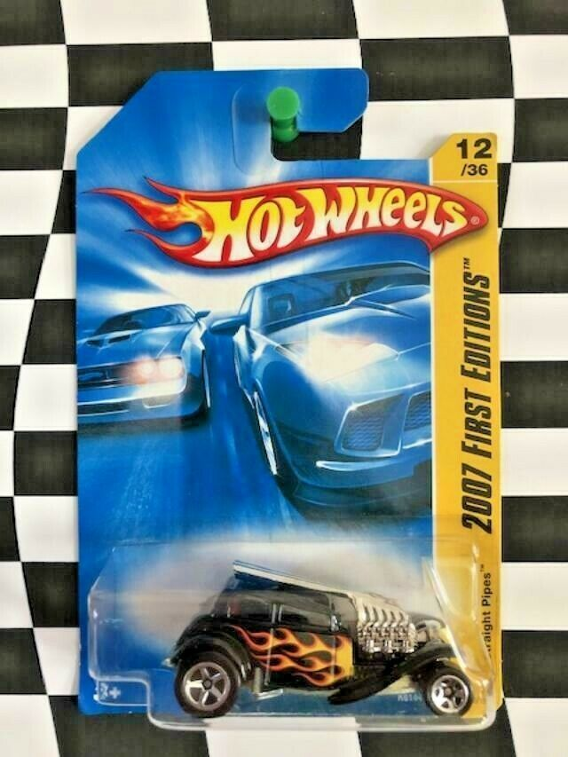 Hot Wheels 2007 New Models First Edition FE 012 Straight Pipes Black 5sp