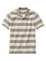 New Gap Men Stripe Short Sleeve Mesh Polo Shirt Size L - $19.79