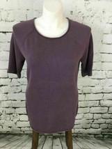 Eddie Bauer Womens Sz L Top Purple 3/4 Sleeve Raglan Shirt - $14.84