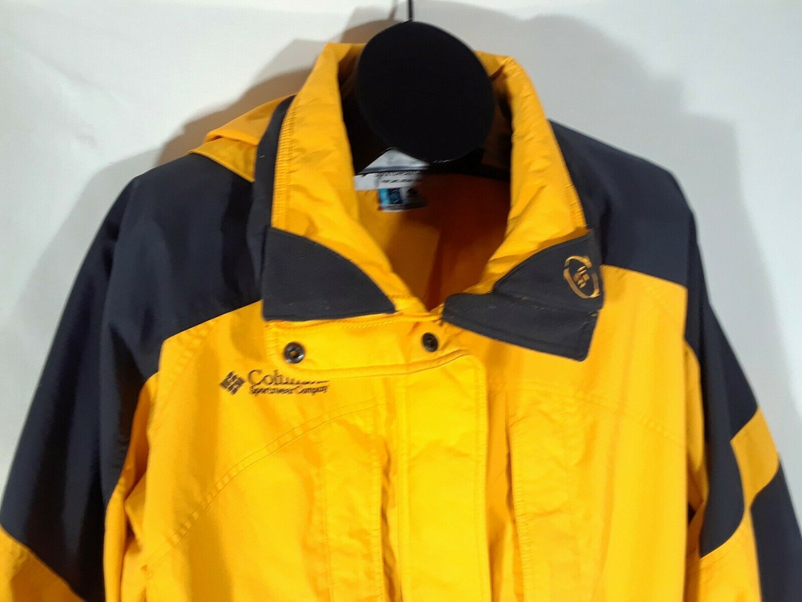 Columbia Men's XL Coat Jacket Yellow Black No Liner GT