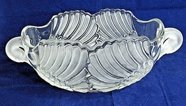 """Mikasa Crystal Swan Bowl Frosted Glass Handles Germany Serving 10"""" x 7"""" ... - $37.57"""