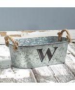 Galvanized Monogram Bucket W  - $13.65