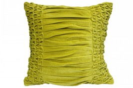 Smocking n Pleat Yellow Cushion Cover pillow case - $25.00