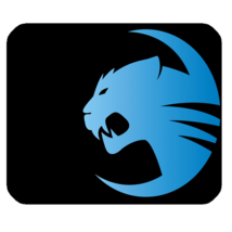 Mouse Pad Roccat Logo Set The Rules Elegant Blue Black Design For Game A... - €7,92 EUR