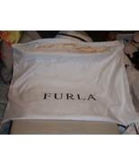 "New Huge  Furla  20x16"" Dust Bag White Silky Satin Hand Bag - $9.89"