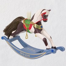 Forty-Five Years of Memories Rocking Horse Porcelain 2018 Hallmark Ornament - $31.67