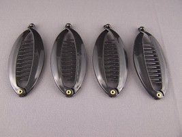 "Black small banana hair clips comb plastic 3.5"" long set pack of 4 - $4.64"