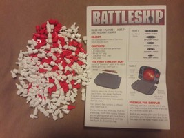 BATTLESHIP 252 white red HIT & MISS PEGS RULES replacement pieces 2009 C... - $9.49