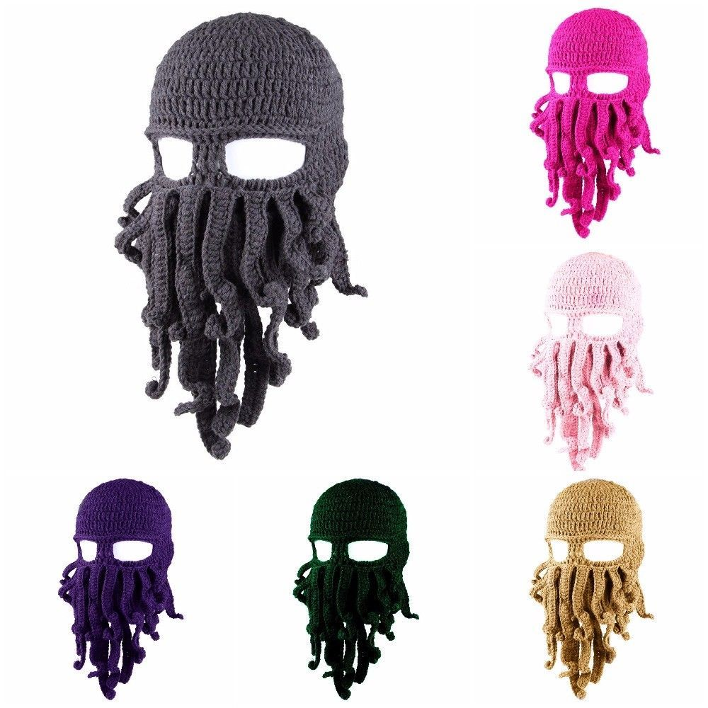 e729d6550a725 S l1600. S l1600. Previous. Wind Face Mask Funny Tentacle Octopus Cthulhu  Knited Beanie Hat Cap Ski Winter