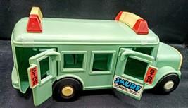 Vintage Smurf School Bus PEYO 1982 Very Nice Rare Toy ! - $19.79