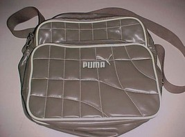 PUMA Two Compartment Unisex All Purpose Gray Cross Body Shoulder Padded Bag - $39.59