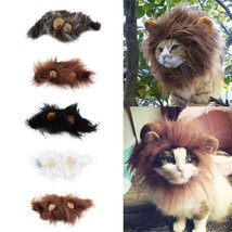 Pet cat costume lion style hair head warm winter cap scarf dress up cat - $5.19
