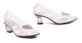 "Ellie 212-Ariel Clear Cinderella Glitter Heart Party Costume 2"" High Hee... - $44.95"