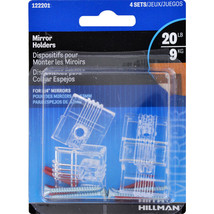 New! Hillman AnchorWire 4 lb. Plastic Heavy Duty Mirror Holder Kit 4 pk 122201 - $6.49