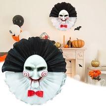 Halloween Clown, Wreath Ornament Joker, Costume Prop Home Party Masquerade - £18.61 GBP