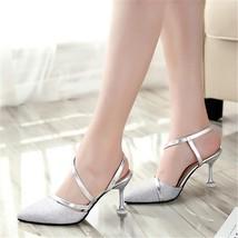 2019 Summer heel High Heels Sandals lady Pumps classics slip on Shoes se... - $59.94+