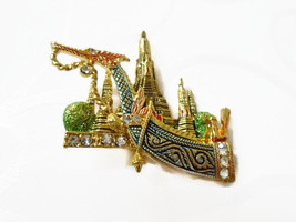 Thailand Suwanahong King's Boat Pin Brooch Accessories Gift Souvenir - $8.00