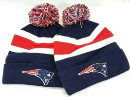 (Lot of 2) NFL New England Patriots Beanie Winter Hat NWT - $18.09